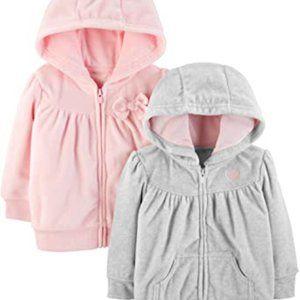 3/$25 2 Pack of Carter's Fleece Hoodie Girls 2T